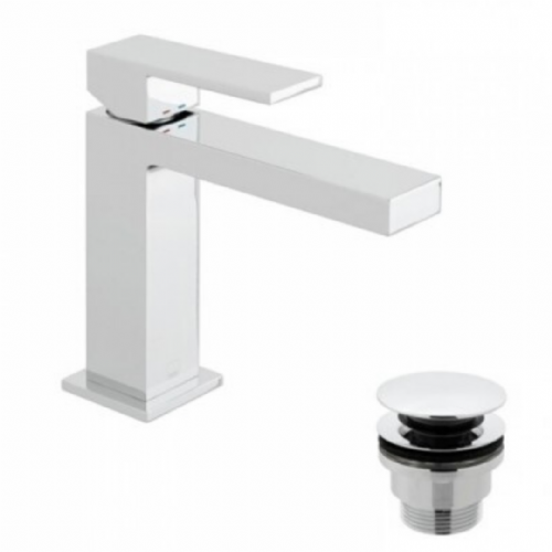 Vado V Notion Mono Basin Mixer With Clic Clack Waste In Chrome - Model NOT-100/CC-C/P